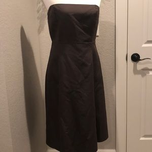 J. Crew brown strapless dress